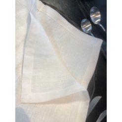 Lin servietta, hvit