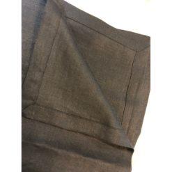 Lin serviettur svartar