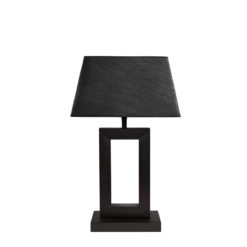 Arezzo bordlampi, svartur