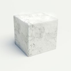Cube marmara hlidarbord, hvitt