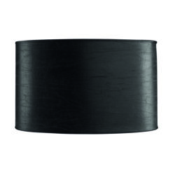 Oval lampaskermur, svart ledur