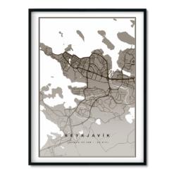 Reykjavík Brúnt 50x70