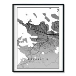 Reykjavík Svart 50x70